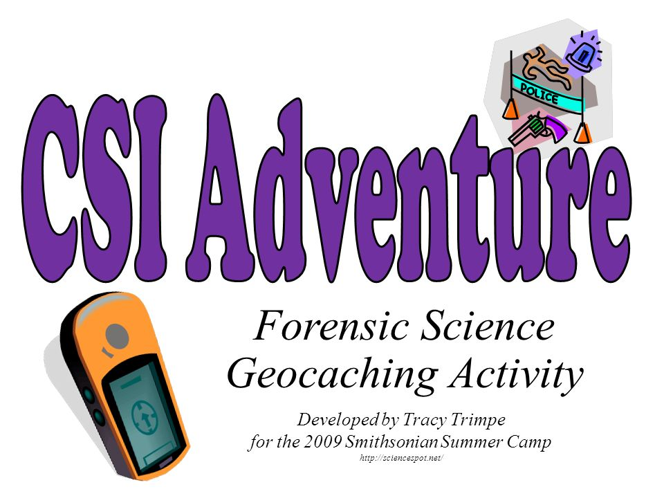Forensic Science Geocaching Activity