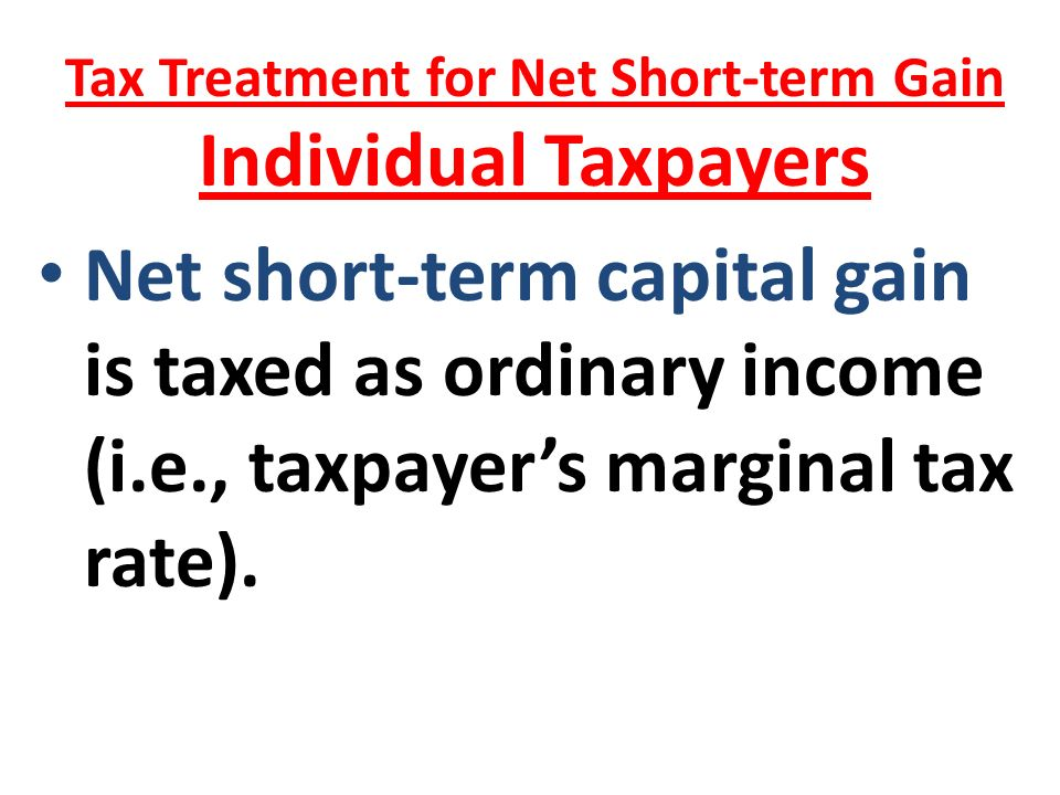 Short term capital gains tax on stock options