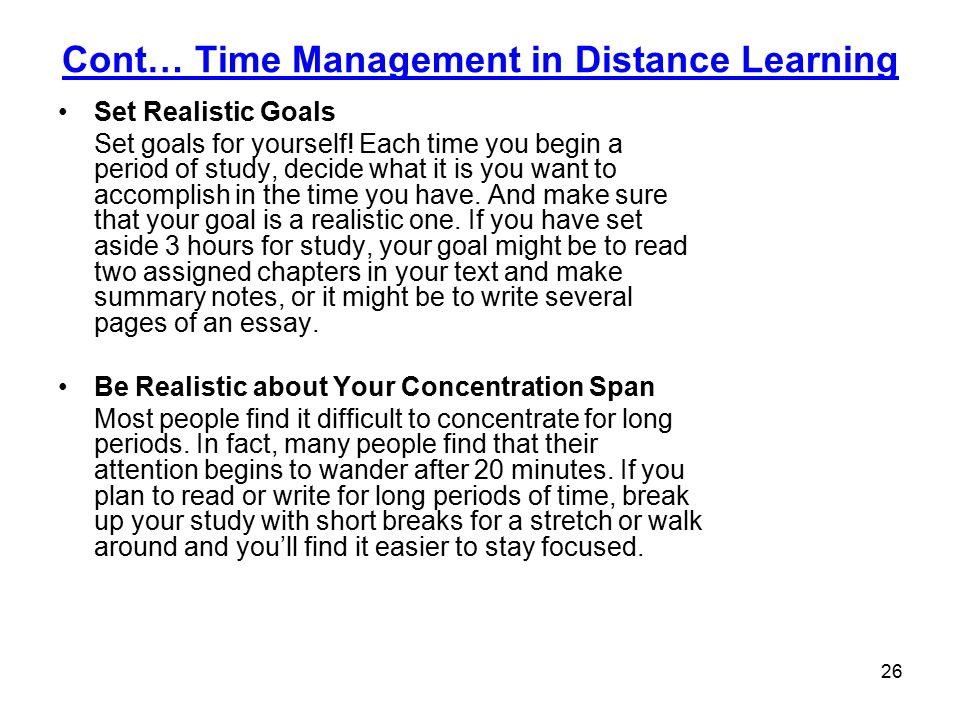 managing distance learning ppt  time management in distance learning