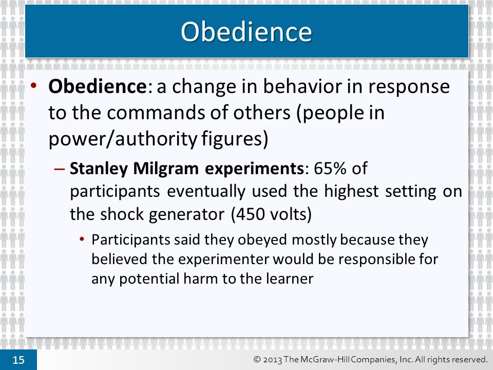 stanley milgrams experiment on the psychological relationship between a person and authority Stanley milgram (august 15 normal people reject authority - papers on the ethics of the obedience to authority experiments by milgram's research.