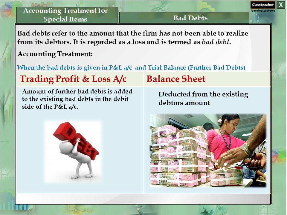 Accounting Treatment for Special Items