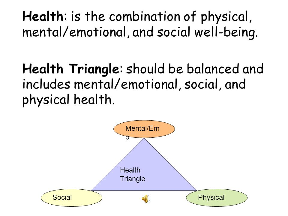 What are 3 things you think have the biggest influence on YOUR – Health Triangle Worksheet