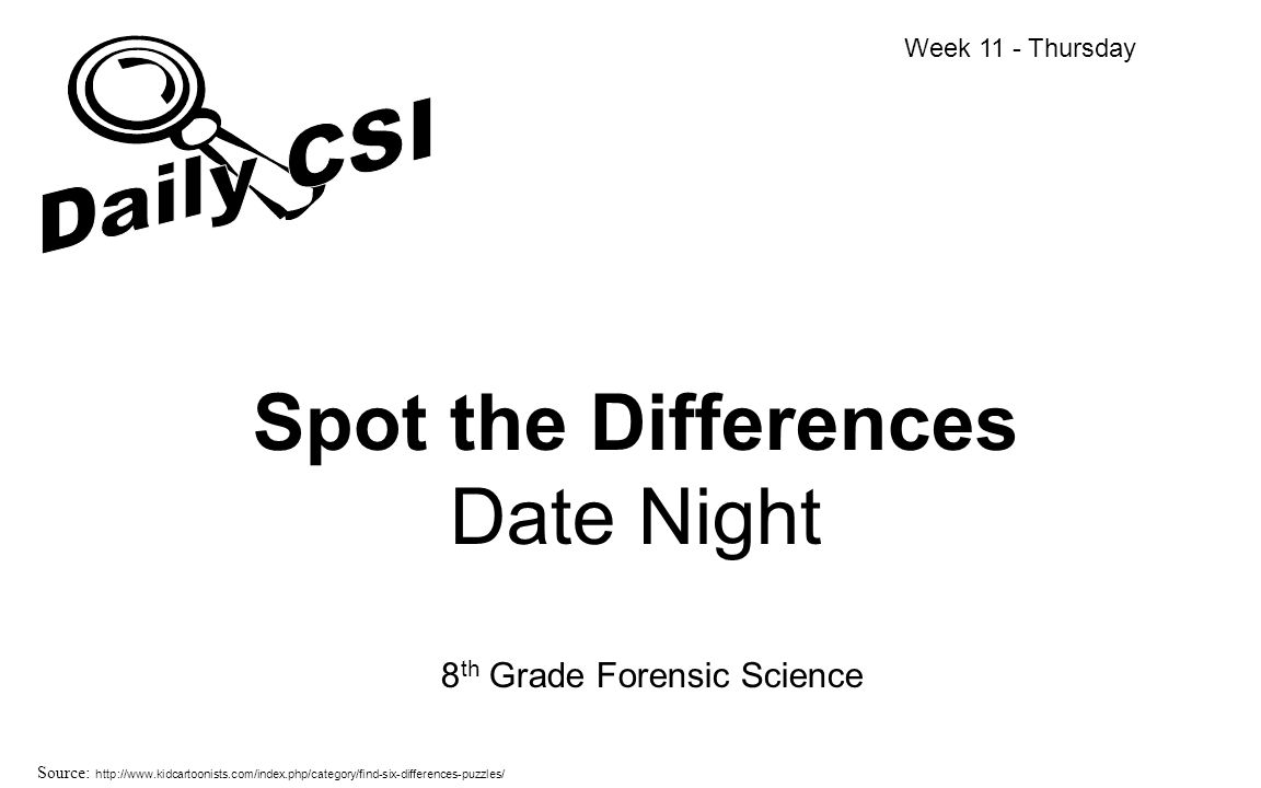 Spot the Differences Date Night