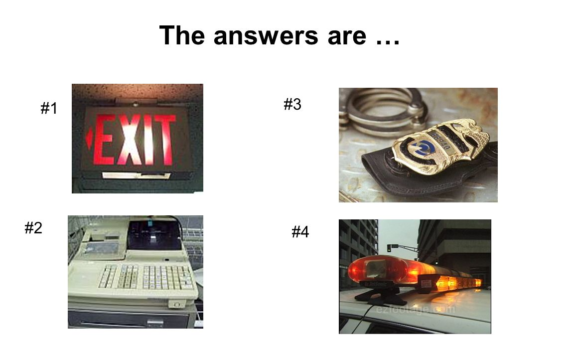 The answers are … #3 #1 #2 #4