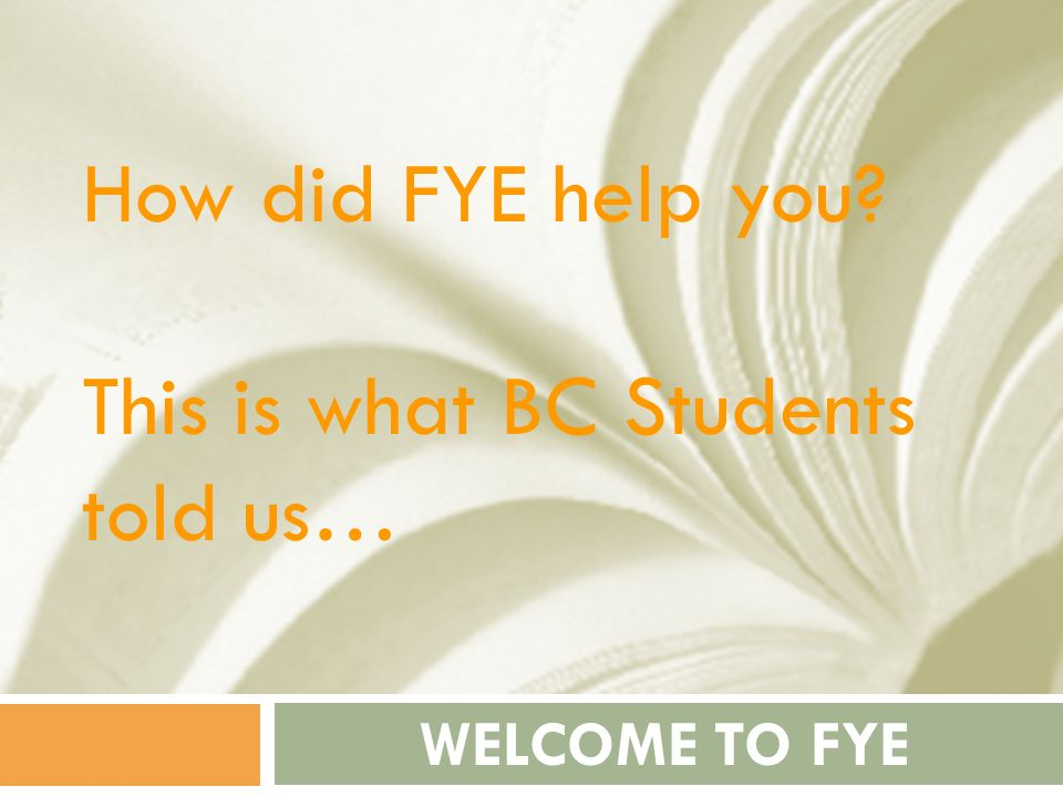 This is what BC Students told us…