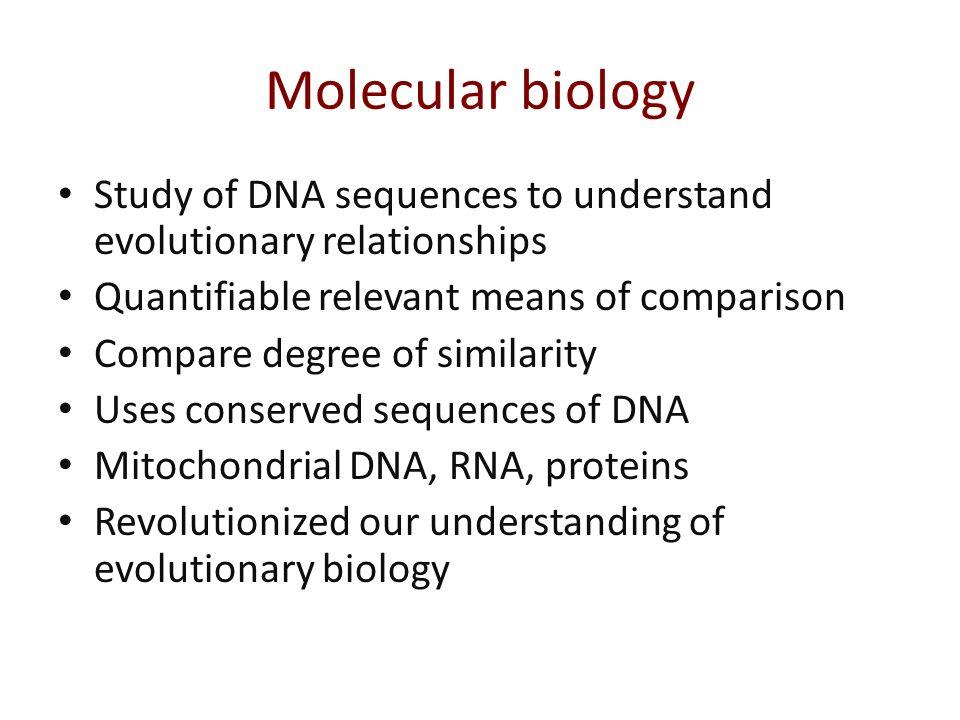 Evolutionary Biology | BIOLOGY