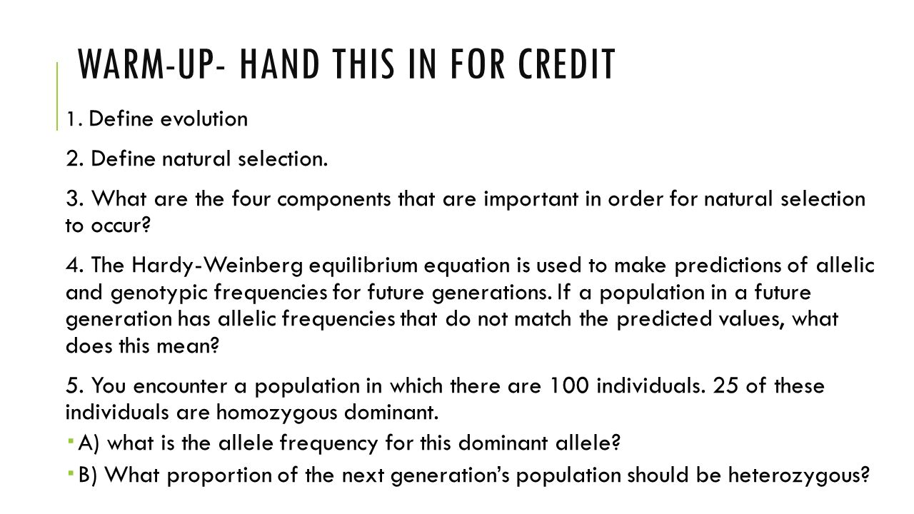 Warm-up- hand this in for credit