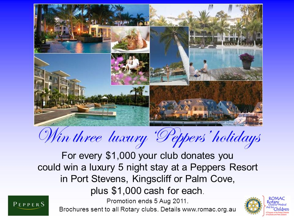 Win three luxury 'Peppers' holidays