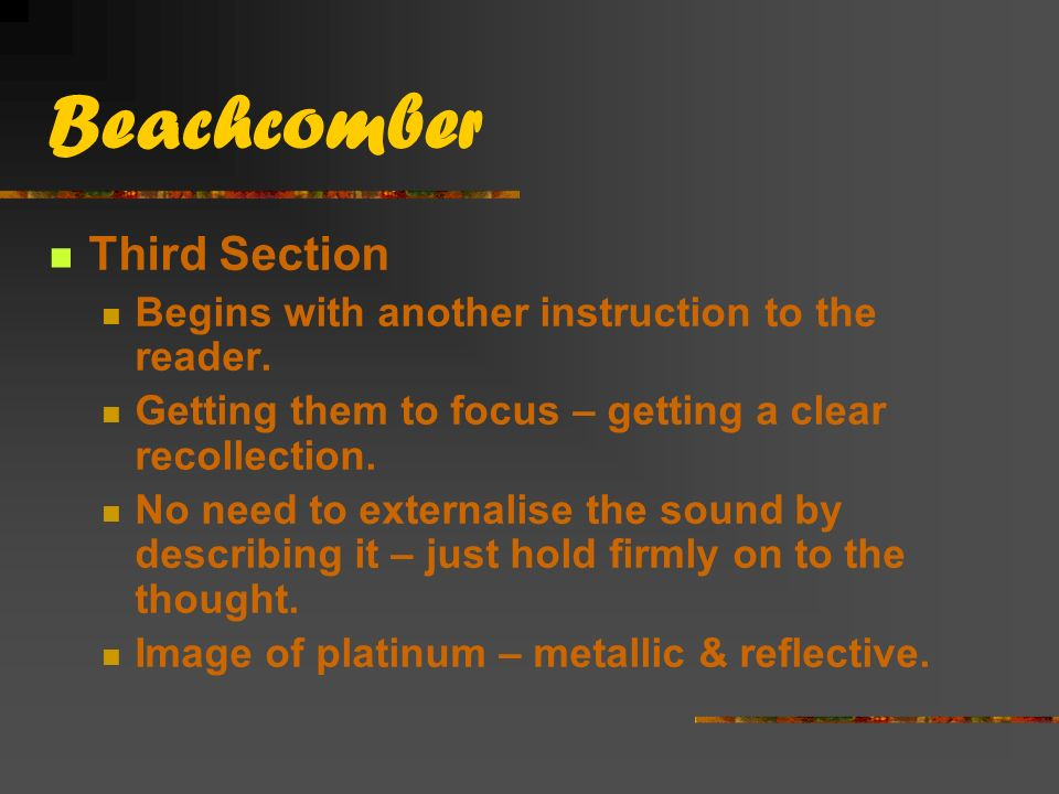 Beachcomber Third Section