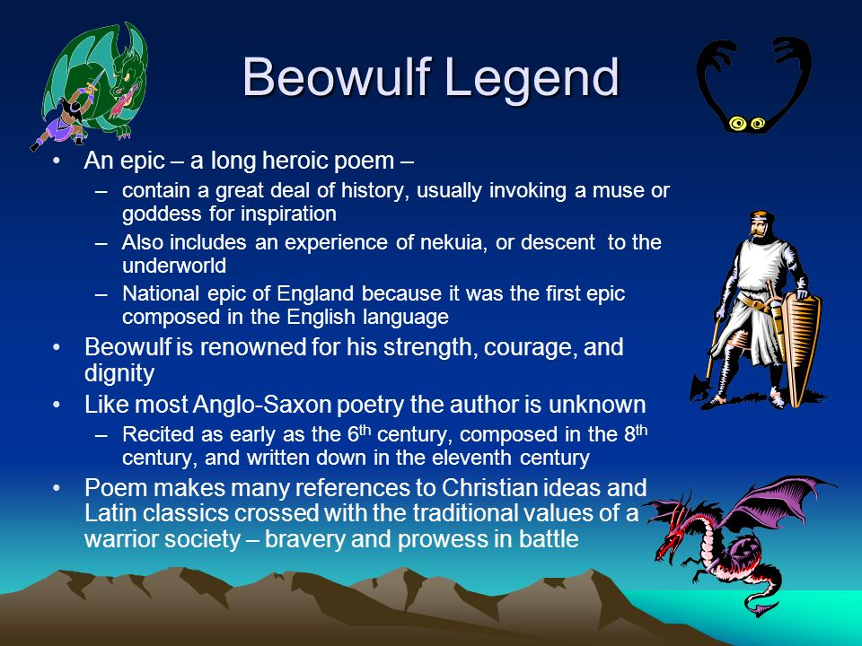 """the pagan and christian ideas and values in the epic of beowulf Beowulf is a christian epic, christianity overrides paganism, for the storyline of beowulf follows the storyline of christ making beowulf as christ one example is when beowulf was called, """"protector of his people, pledged to uphold truth and justice and to respect tradition"""" (lines 1700-1701."""