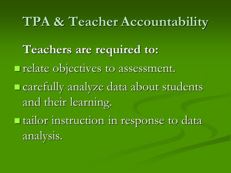TPA & Teacher Accountability