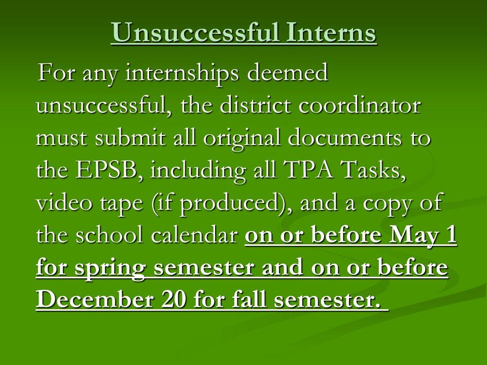 Unsuccessful Interns