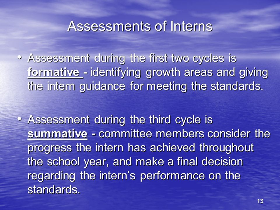 Assessments of Interns