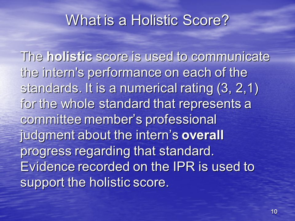 What is a Holistic Score
