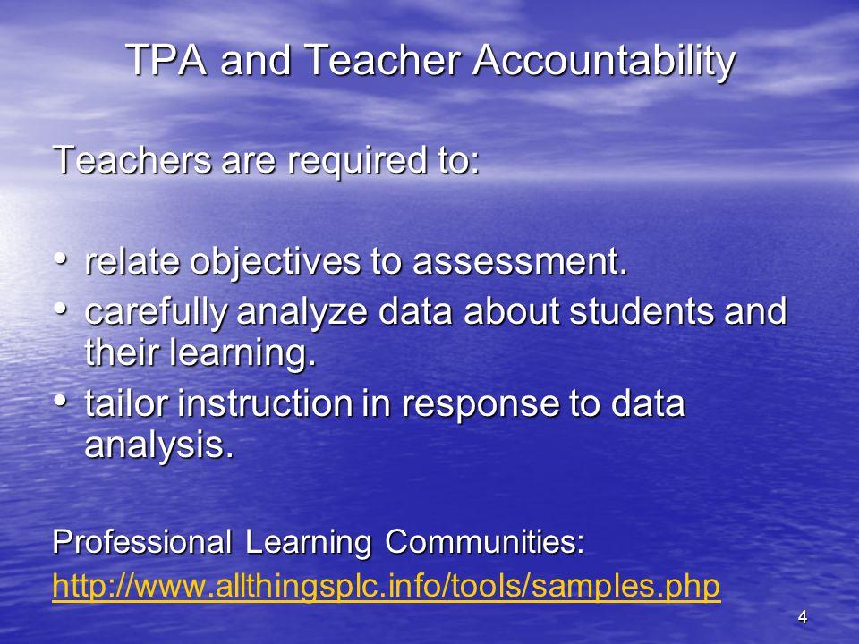 TPA and Teacher Accountability