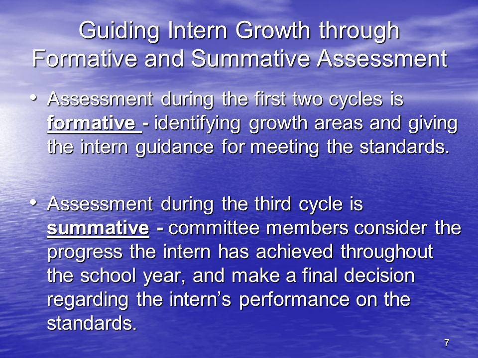 Guiding Intern Growth through Formative and Summative Assessment