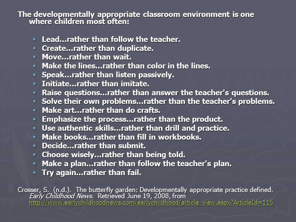 Lead...rather than follow the teacher. Create...rather than duplicate.