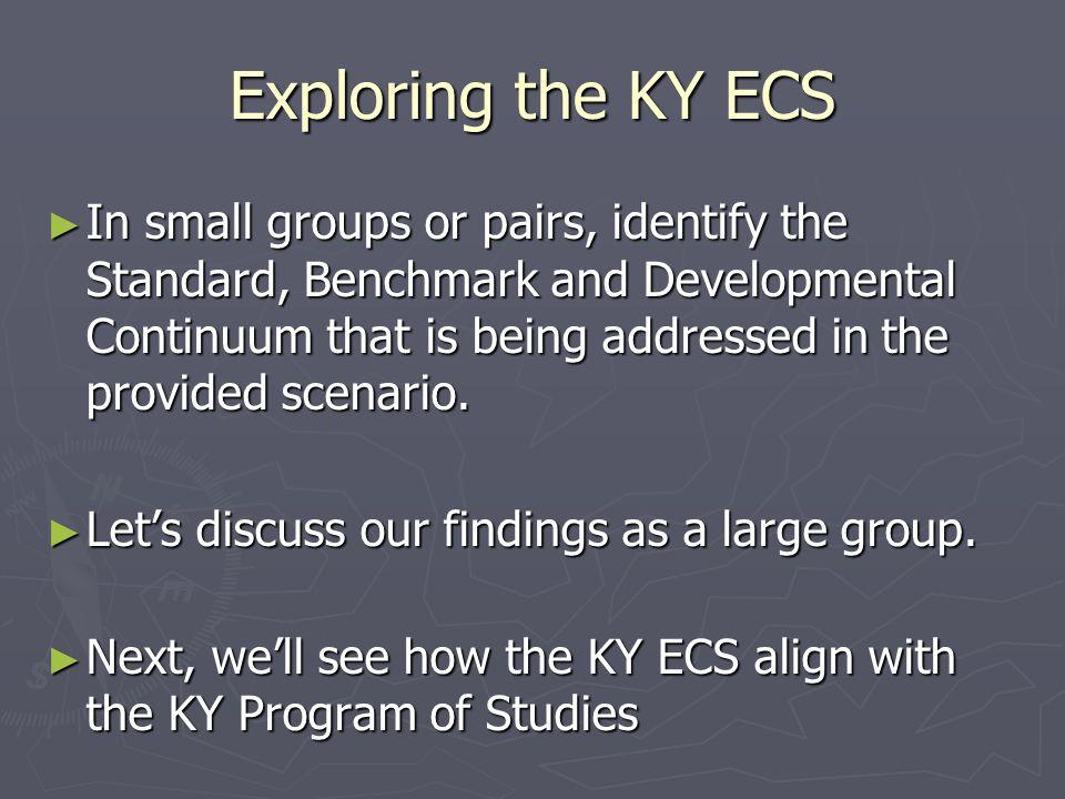 Exploring the KY ECS