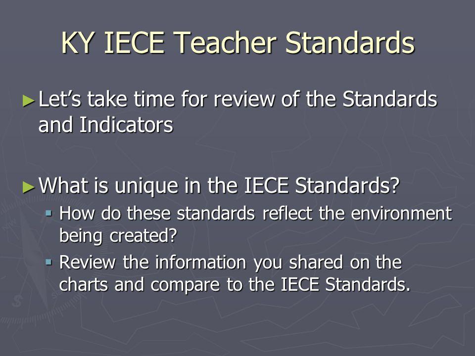 KY IECE Teacher Standards