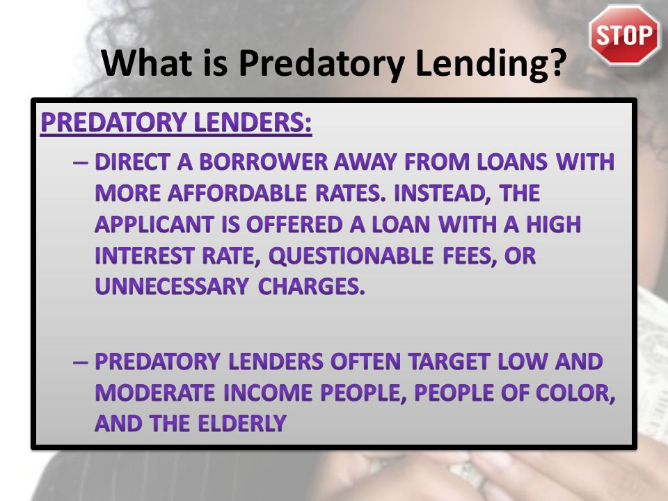 What is Predatory Lending