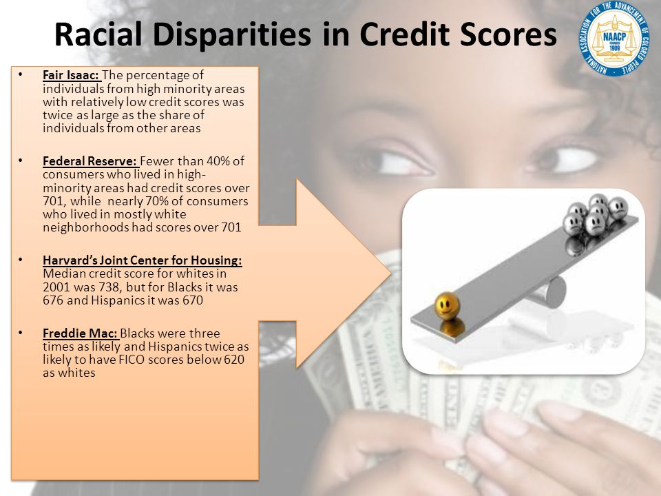 Racial Disparities in Credit Scores
