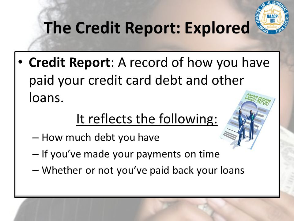 The Credit Report: Explored