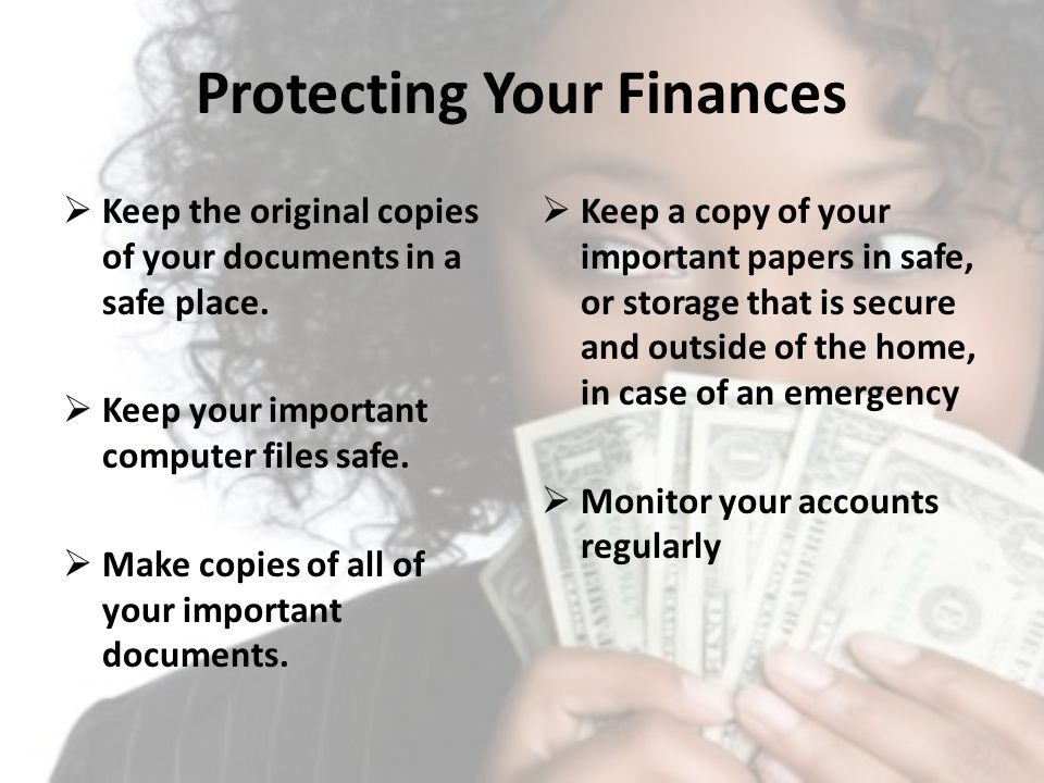 Protecting Your Finances