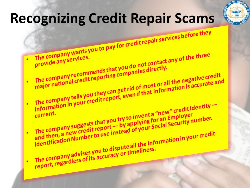 Recognizing Credit Repair Scams