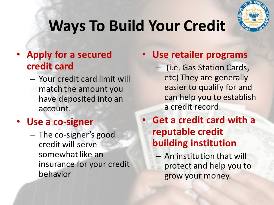 Ways To Build Your Credit