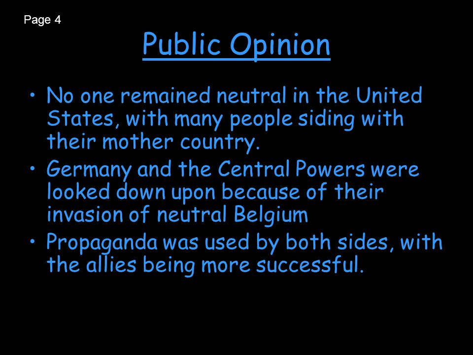 the many misconceptions about the neutrality of the united states This neglect has given rise to some serious misconceptions about the war in which more than 116,000 americans died myth no 1 the united states was neutral, in fact as well as name, until 1917.