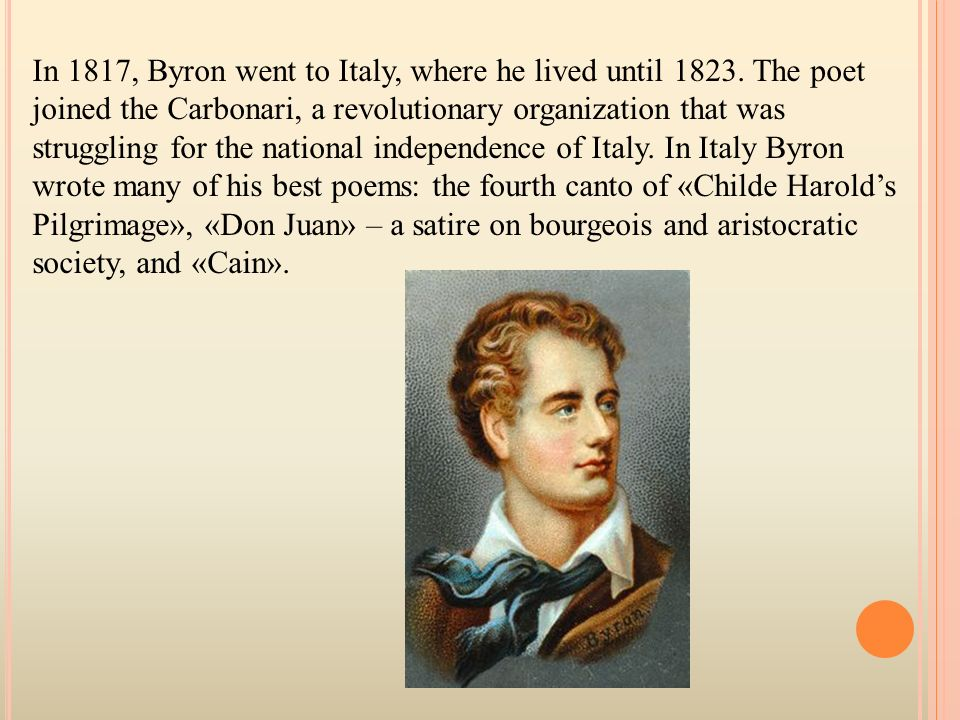 "a short summary of byrons poem childe harolds pilgrimage Lord byron's life byron became famous after publishing his first two cantos from ""childe harold's pilgrimage lord byron's style and popular poems."