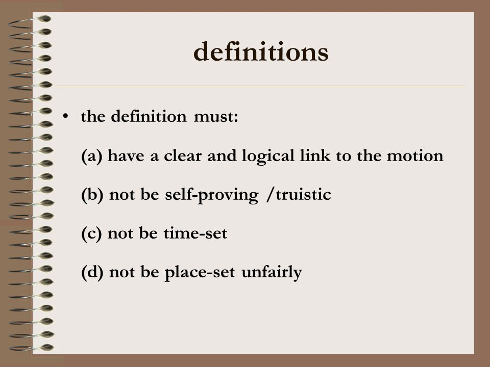 definitions the definition must: