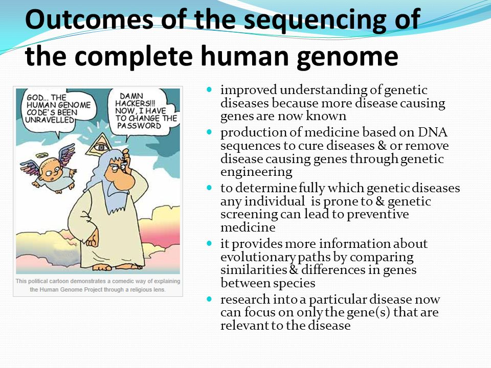 Genetic engineering and biotechnology ppt video online download outcomes of the sequencing of the complete human genome sciox Image collections