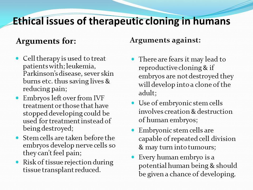 ethical issues in human cloning essay View and download cloning essays examples  brannigan, michael c, ed ethical issues in human cloning cross-disciplinary perspectives  an extensive deate on.