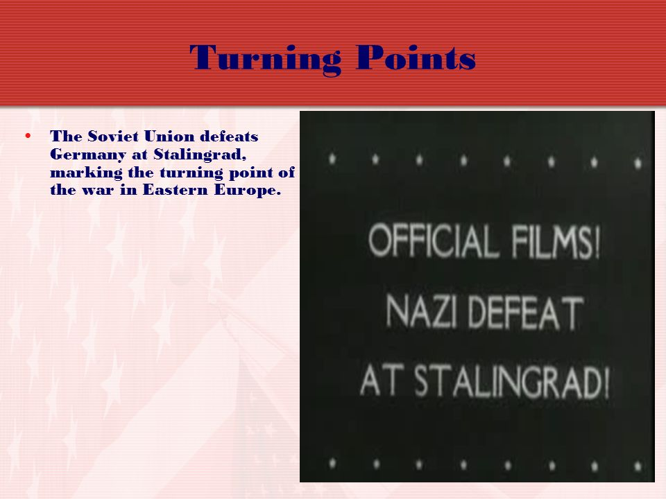 Turning Points The Soviet Union