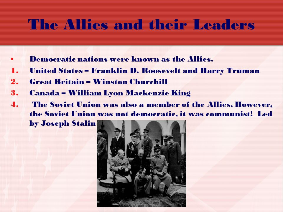 The Allies and their Leaders