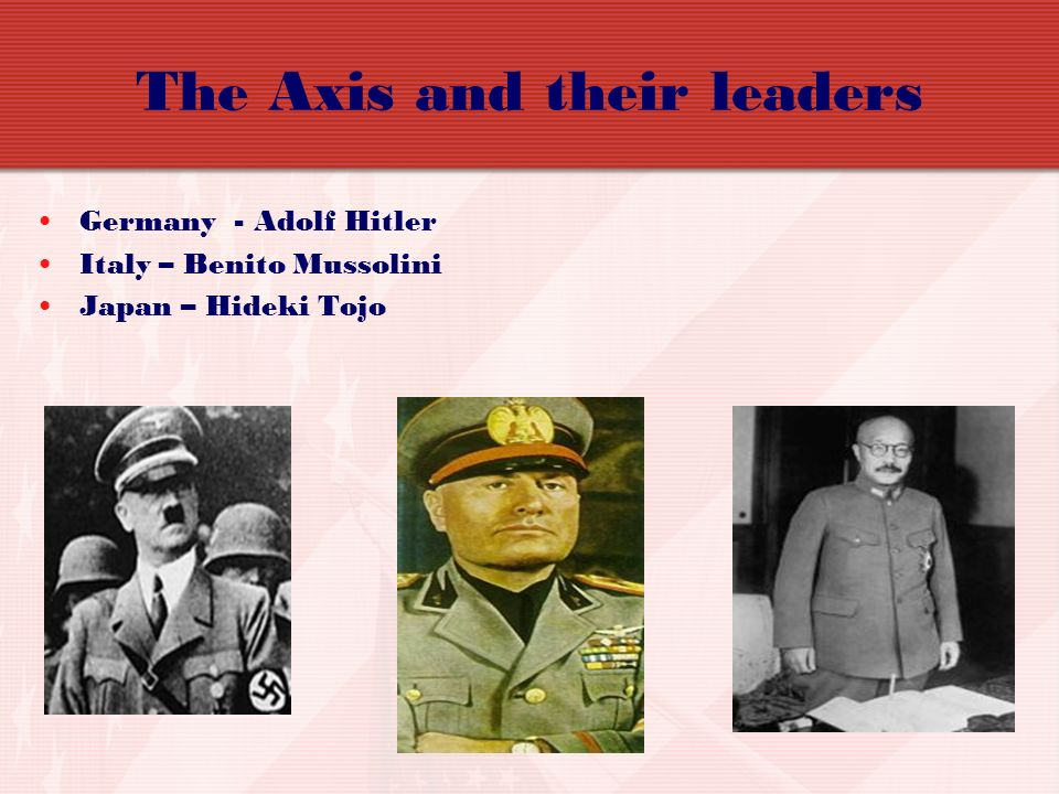 The Axis and their leaders