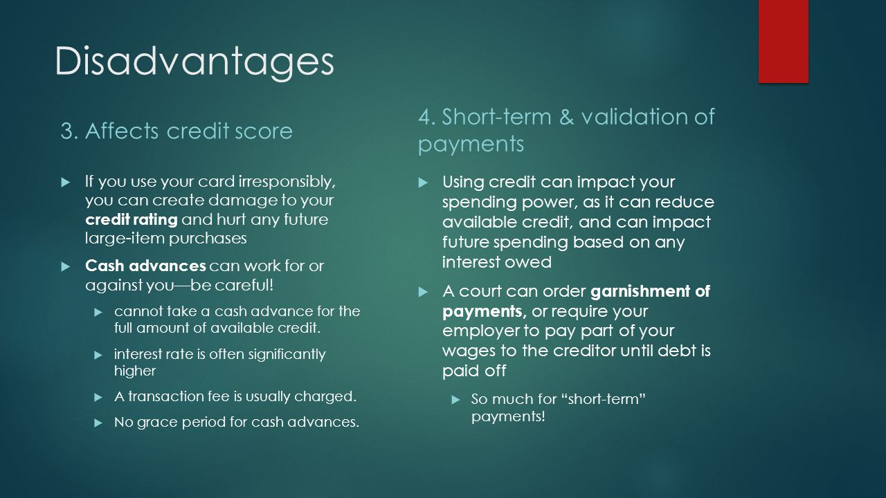credit cards advantages and disadvantages Yes it is because you lose whatyever credit limit you have on that card and there is no guarantee you will get the same with a southwest card also, there is the age, which is contributing to the length of time you have credit.