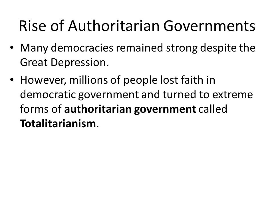 Rise of Totalitarianism - ppt video online download