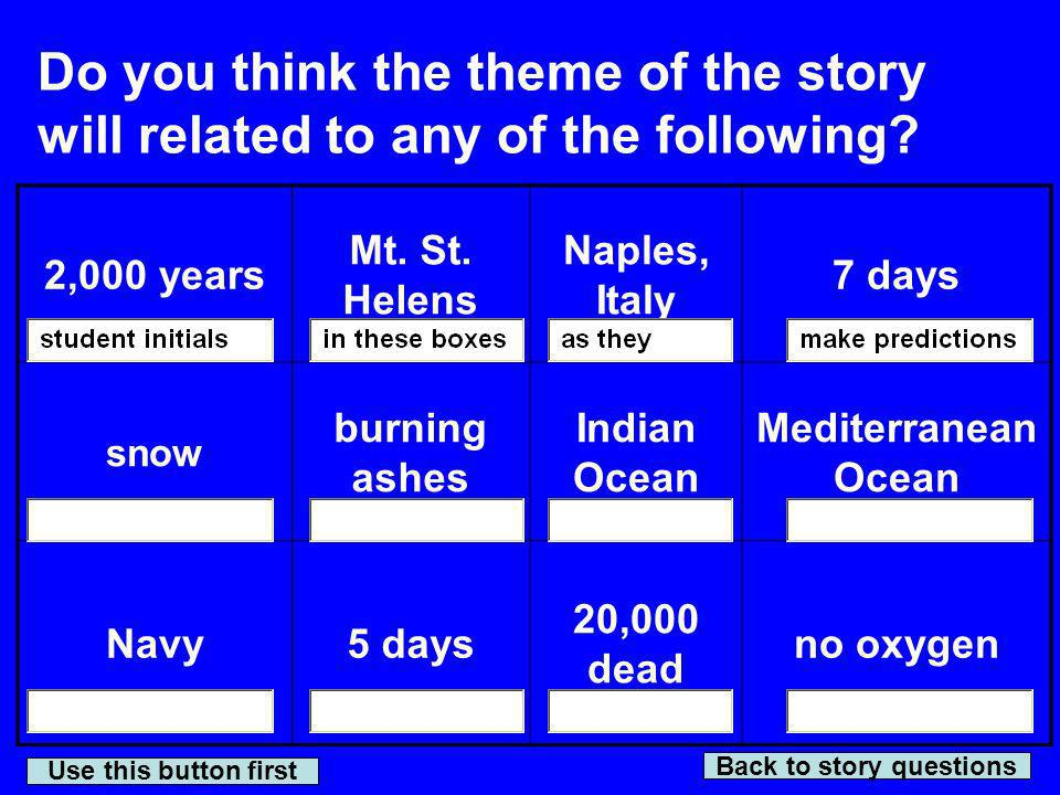 Back to story questions