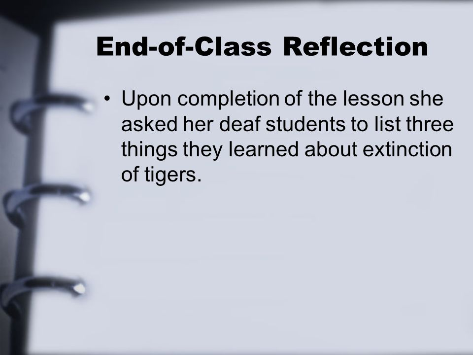 End-of-Class Reflection