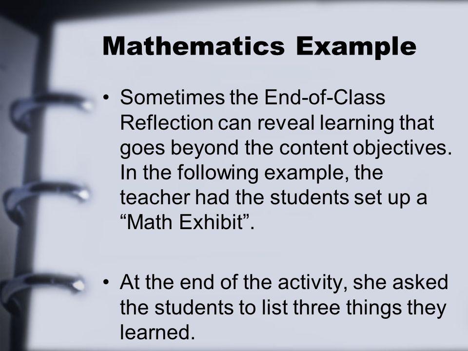 Mathematics Example