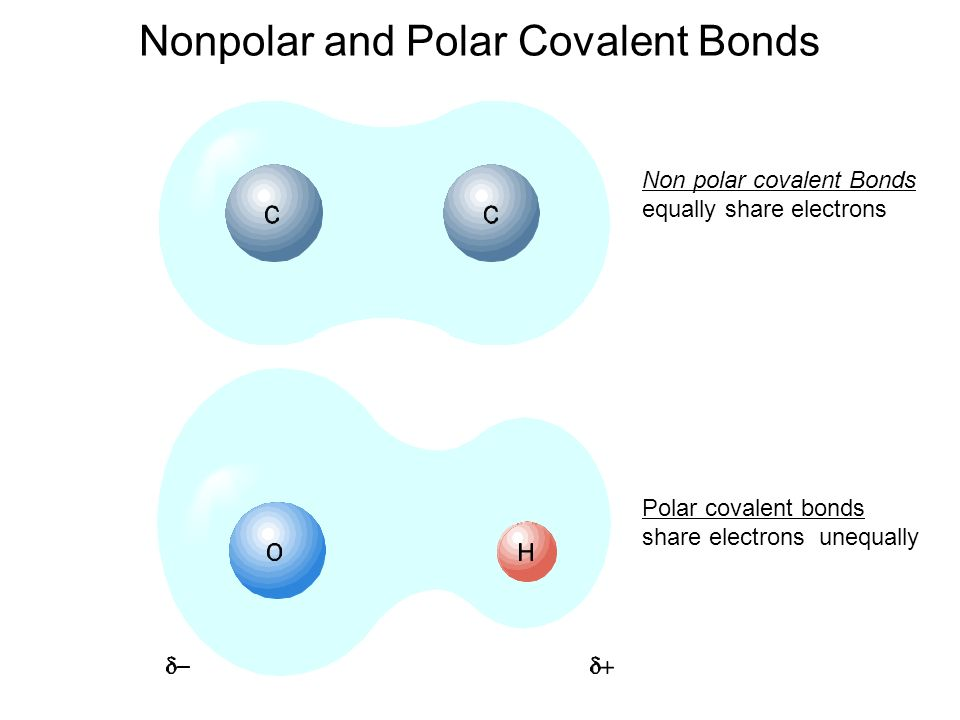 Comparison of Ionic, P... Nonpolar Covalent Bond Examples