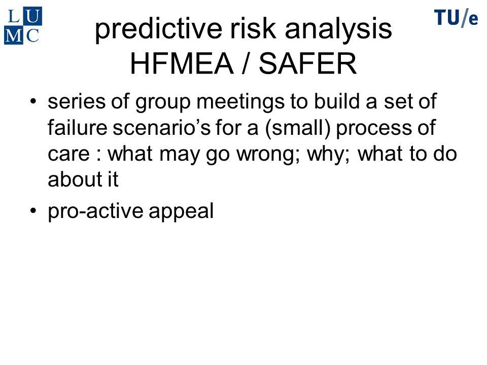 predictive risk analysis HFMEA / SAFER