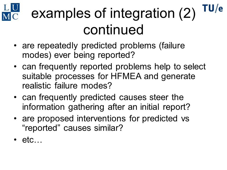 examples of integration (2) continued