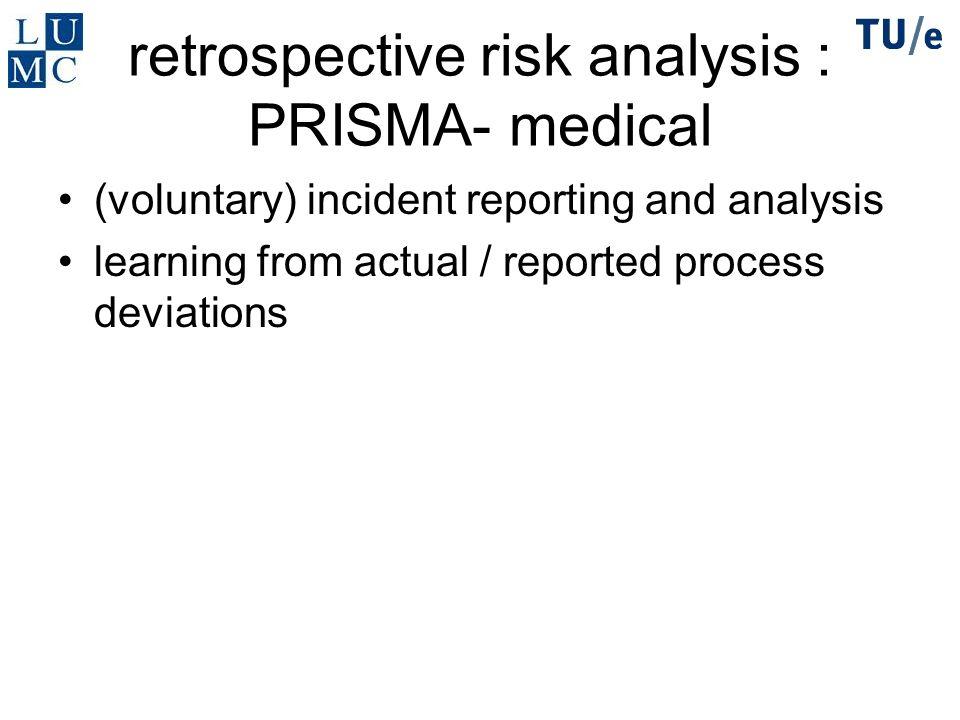 retrospective risk analysis : PRISMA- medical