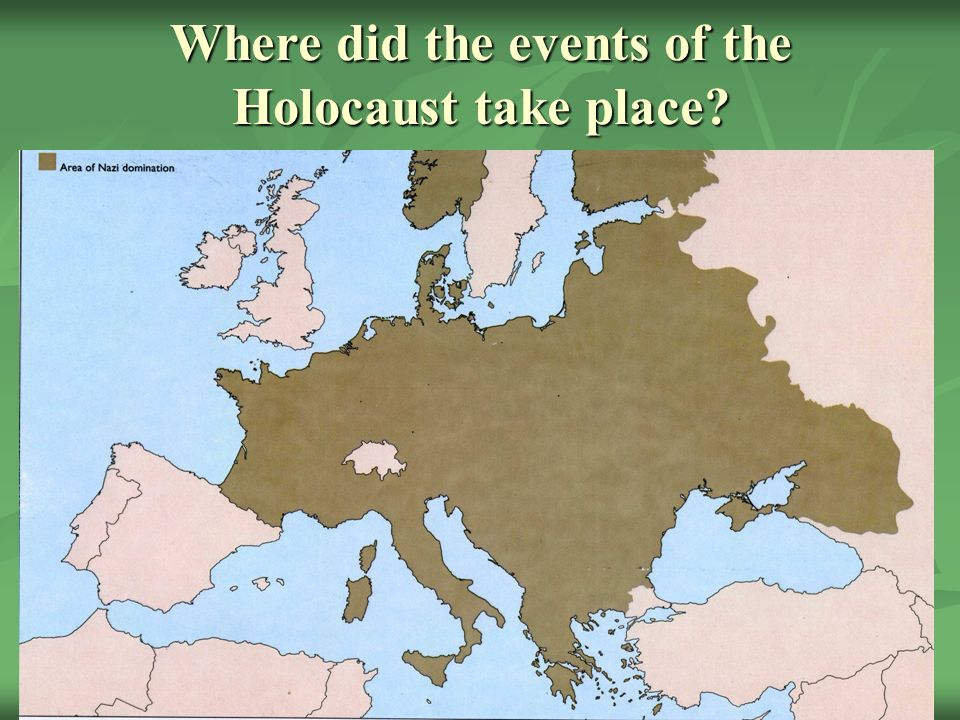 a history of the events in the holocaust In the west, memoirs of the holocaust could (although very slowly) enter into   excludes those who were at the center of the historical event.