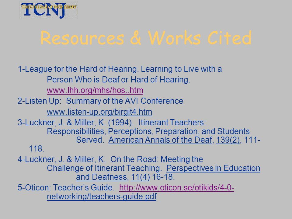 Resources & Works Cited