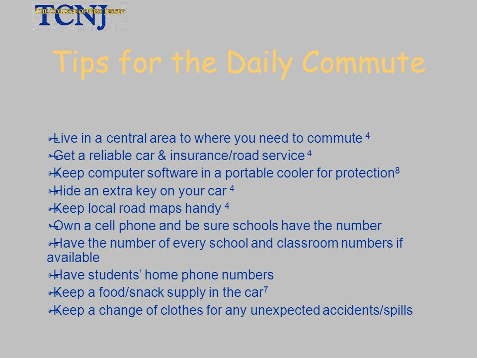Tips for the Daily Commute