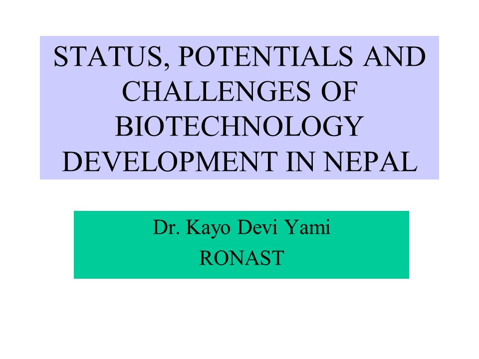 Dr. Kayo Devi Yami RONAST